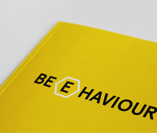Honey bee behaviour book design
