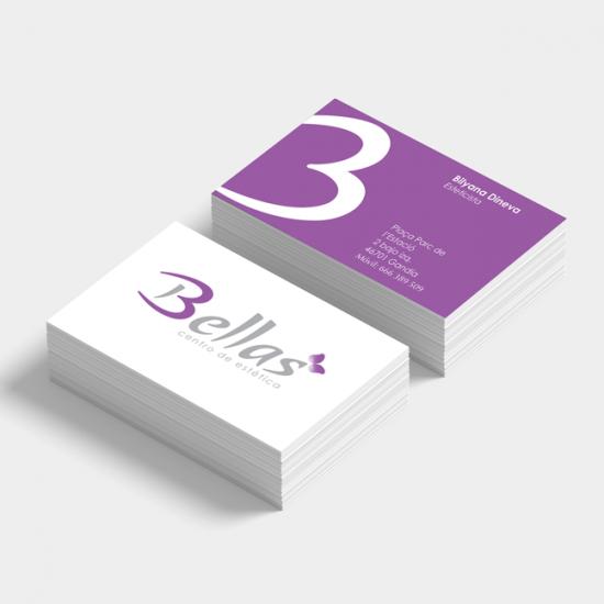 Identity design for Bellas Centro de Estetica, a beautician business in Spain