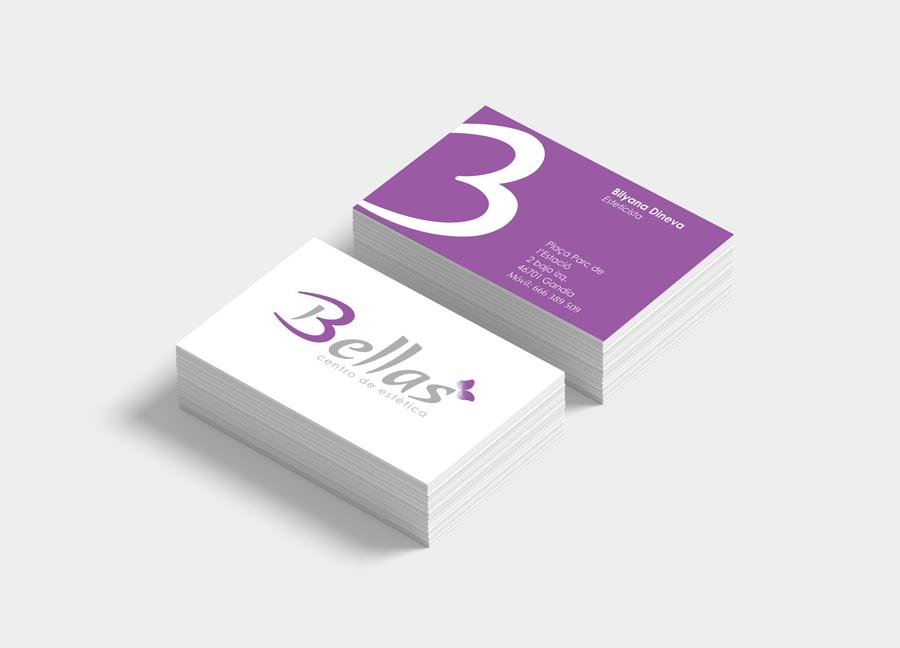 Identity design for Bellas Centro de Estetica, a beautician business in Spain