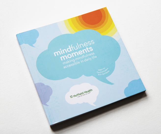 Mindfulness moments, illustrations for a book collaboration between MindLab and Nuffield Health